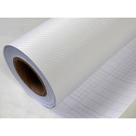 160x152 cm. Vinilo Carbono Blanco